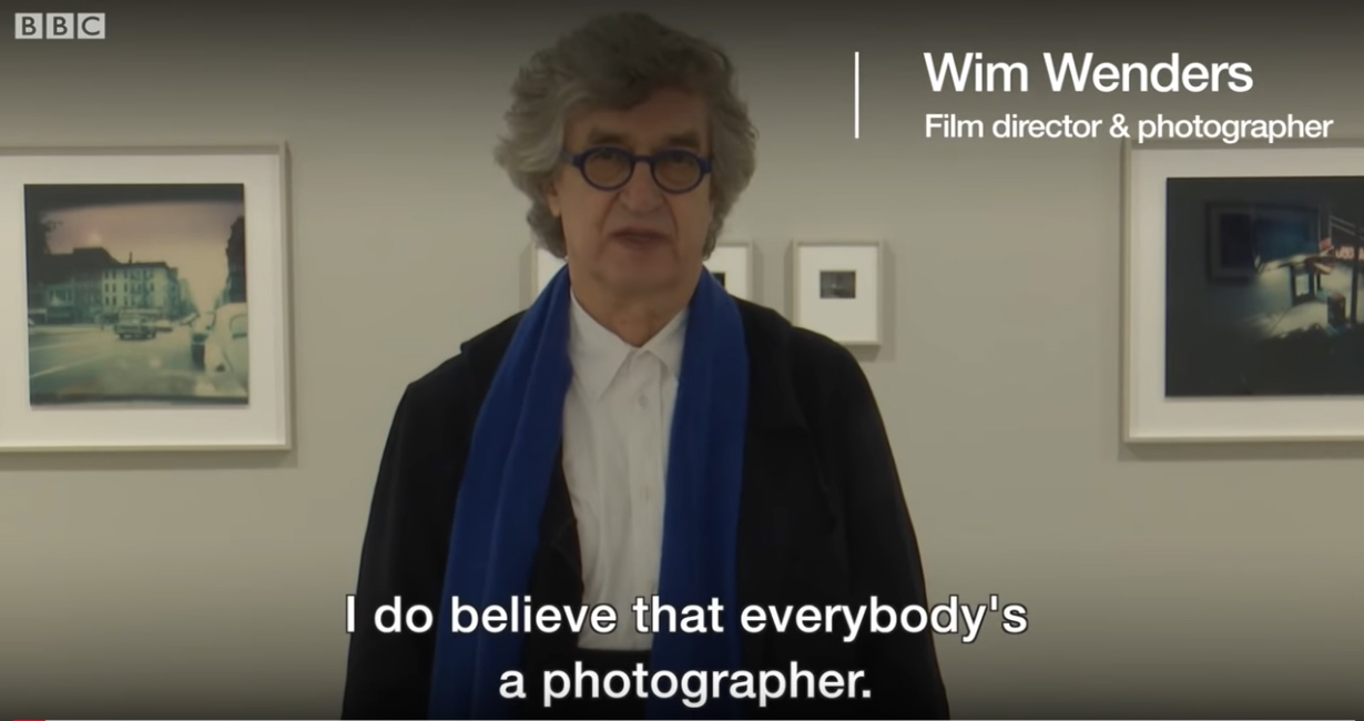 Print screen / Wim Wenders about smartphone pictures